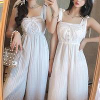 Front pearl ribbon long suit(No.301163)【3color】