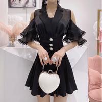 Fairy sleeve pleats skirt setup(No.302172)【2color】