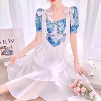 Double ribbon cinderella long dress(No.302287)