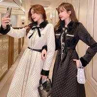 Merry quilting eco-fur tippet long coat(No.301856)【2color】