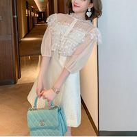 Creamy pearl button dress(No.301226)