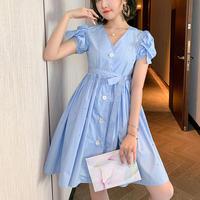 Point bijou shirt dress(No.301373)