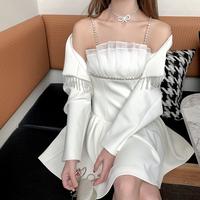 Cinderella bijou jacket & dress(No.302081)【white】