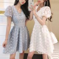 一部即納♡Lady flower simple dress(No.301146)【3color】