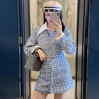 Idol look blue tweed suit(No.301640)