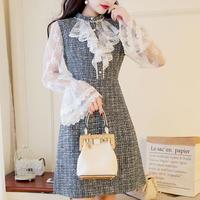 lace sleeve tweed OP(No.300564)