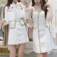Mono tweed line dress / setup(No.301589)