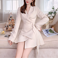 Double belted coat dress(No.301609)