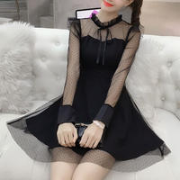 dot tulle black OP(No.300574)