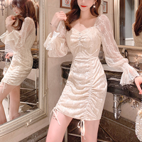 Milk white cache-coeur dress(No.301534)