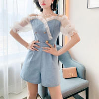 Frill shoulder denim suit(No.301377)