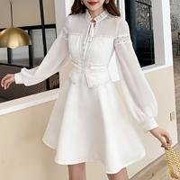 Angel flare white dress(No.301051)