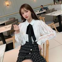 Airy lace blouse & tweed mermaid skirt(No.301757)