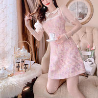 Sweety tweed puff sleeve dress(No.301110)