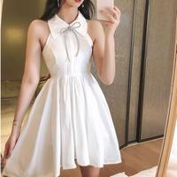 Bijou ribbon neck sleeve dress(No.301389)