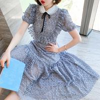 Alice blue cutting lace dress(No.301491)