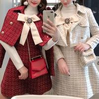 一部即納❤︎Merry tweed ribbon dress & jacket set(No.300894)【2color】