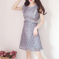 Petite lace fleur dress(No.300711)