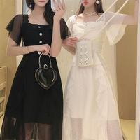 Fairy dot tulle long dress(No.301162)【2color】