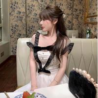 Retro petite frill flare mini dress(No.302274)