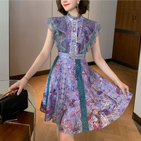 Lady elegant flare lacy dress(No.301382)