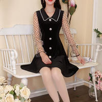 Lady look dot chiffon sleeve dress(No.300834)