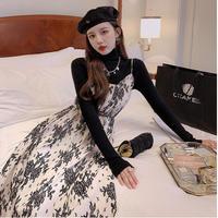 Vintage fleur flare long dress(No.030949)