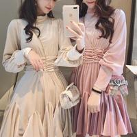Velour cache coeur waist make dress(No.300831)【3color】