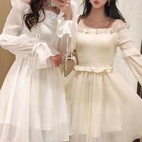 Angel petite frill mini dress(No.301058)【3color】