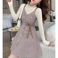 Sugar brown chidori cami dress set(No.301842)