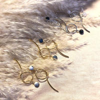 Midi marble pierce/earring