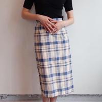 Renée check skirt