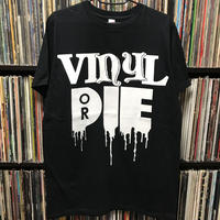VINYL OR DIE T-SHIRT (Black-White)