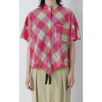 BASE MARK / Plaid Rhombus Shirts / Pink
