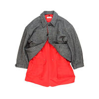 【DELTA EXCLUSIVE】KEISUKEYOSHIDA / Layered Coat A  / GRAY x RED