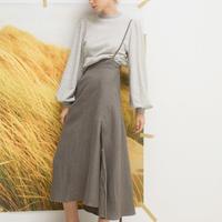 LEINWANDE / String Dungaree Skirt / Gray