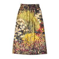 WATARU TOMINAGA / Elastic Waist Long Skirt / Garden Print