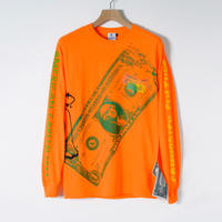 KOTAOKUDA / LONG SLEEVE WITH BIG PRINT / ORANGE