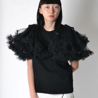 noir kei ninomiya / nylon tulle tops / black