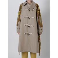 BASE MARK / Fringe Jacquard Comb. Coat / Beige