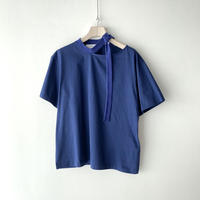 TOGA PULLA / Silket Jersey Short Sleeves / BLUE