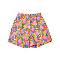 WATARU TOMINAGA / Elastic Waist Shorts / Pink Flower Print
