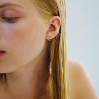 Saskia Diez / GOLD WIRE DOUBLE EARCUFF / Mini