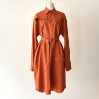 KEISUKEYOSHIDA / Deformation Shirt Coat / ORANGE