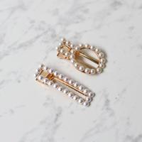 ヘアクリップ・セット / Pearls