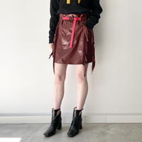 TOGA PULLA / Rubber coating skirt / RED