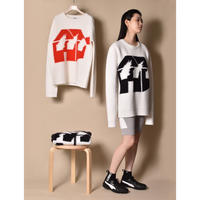 JW ANDERSON x David Wojnarowicz / Burning House Knit / White × Black