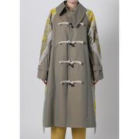 BASE MARK / Fringe Jacquard Comb. Coat / Khaki