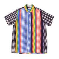 WATARU TOMINAGA / Half Sleeve Shirts / Rainbow Gingam Print