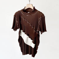 to do kotohayokozawa / Short-sleeve high  neck  / BROWN